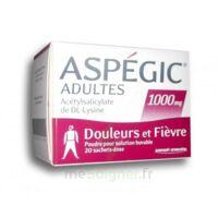 ASPEGIC ADULTES 1000 mg, poudre pour solution buvable en sachet-dose 20 à Oloron Sainte Marie