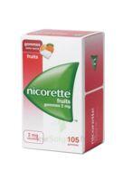 Nicorette 2 mg Gomme à mâcher médicamenteuse sans sucre fruits Plq/105 à Oloron Sainte Marie