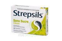 STREPSILS CITRON SANS SUCRE, pastille édulcorée à l'isomalt, au maltitol et à la saccharine sodique à Oloron Sainte Marie