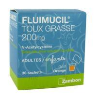 FLUIMUCIL EXPECTORANT ACETYLCYSTEINE 200 mg SANS SUCRE, granulés pour solution buvable en sachet édulcorés à l'aspartam et au sorbitol à Oloron Sainte Marie