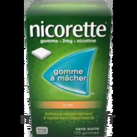 Nicorette 2 mg Gomme à mâcher médicamenteuse sans sucre fruits Plq/30 à Oloron Sainte Marie