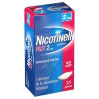 NICOTINELL FRUIT 2 mg SANS SUCRE, gomme à mâcher médicamenteuse Plaq/36gom à Oloron Sainte Marie