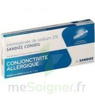 CROMOGLICATE DE SODIUM SANDOZ CONSEIL 2 %, collyre en solution en récipient unidose 10Unid/0,3ml à Oloron Sainte Marie